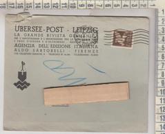 STORIA POSTALE UBERSEE POST LEIPZIG LIPSIA POSTA AEREA 1944 - Poststempel