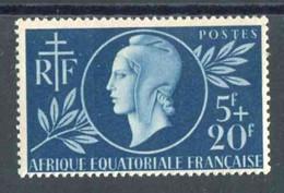"""TIMBRE**d'A.E.F. De 1944 """"5 F + 20 F - ENTRAIDE FRANCAISE"""" - Ongebruikt"""
