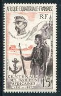 """TIMBRE** D'A.E.F. De 1957 """"15 F - CENTENAIRE DES TROUPES AFRICAINES"""" - Ongebruikt"""