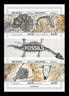Maldives 2020 Mih. 9146/49 Prehistoric Fauna. Fossils MNH ** - Maldivas (1965-...)