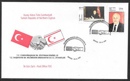 Cyprus (Turkish Posts) 1997 Friendship With Turkey Illustrated FDC - Storia Postale