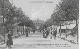 LORIENT - COURS DE LA BOVE ET LE THEATRE - SUPERBE ANIMATION - 1911 - Lorient