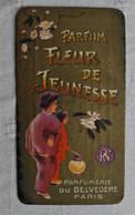 """Carte Publicité Parfum """"Fleur De Jeunesse""""/ Parfumerie Du Belvédère Paris/ Verviers Coiffure Pour Dames - Pubblicitari"""