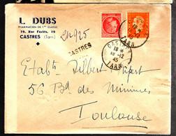 39489 - CASTRES Recommandé  Provisoire - 1921-1960: Modern Period