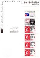 """"""" 150 ANS DE CERES """" Sur Notice Philatélique Officielle De 1999 N° YT BC3213  En Parfait état ! - Documents Of Postal Services"""