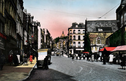 Boulogne Sur Mer - La Grande Rue, Jour De Marché, Place Dalton - Edition Pollet - Carte Colorisée Non Circulée - Boulogne Sur Mer