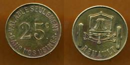 JETON PUB // BOULOGNE-BILLANCOURT // Etablissement RENAULT // 25 Centimes - Monedas / De Necesidad