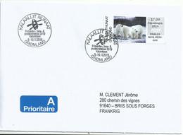 Vignette D'affranchissement IAR - ATM - Ours Polaire - FDC - Machine Stamps
