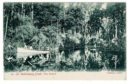 Ref 1427 - 1908 New Zealand Postcard - Mahinapua Creek & River Boat Message About Shooting - Nueva Zelanda