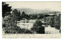 Ref 1427 - Early New Zealand Postcard - Tourist Boat On Wairoa River - Nueva Zelanda