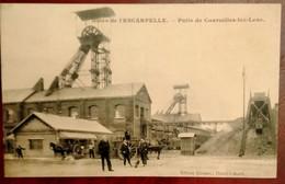 Carte Postale Ancienne - Puits De COURCELLES -LEZ-LENS- Mines De L'Escarpelle - Miniere
