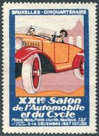 AUTO-MOTO Belgium 1927 Bruxelles XXI Salon Automobile Et Du Cycle Vignette Poster Car Cycling Belgique België Belgien - Auto's