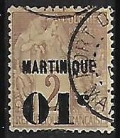 """MARTINIQUE N°7 Variété Sans Point Après """"c"""" - Gebraucht"""