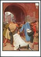 D3587 - Hans Lietzmann Künstlerkarte - Auferweckung Des Jüngling Nain - Verlag Preuss. Haupt Bibelgesellschaft Berlin - Paintings, Stained Glasses & Statues