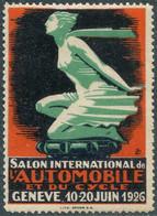 AUTO-MOTO Switzerland 1926 Geneve Salon International Automobile Et Du Cycle Vignette Poster Car Cycling Suisse Schweiz - Coches