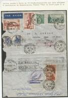 N°262 AU VERSO LETTRE + RECTO N°394+391X2+392+411 AVION PARIS 17.12.1938 POUR ARGENTINE - 1921-1960: Periodo Moderno