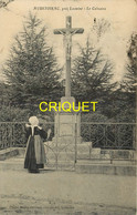 56 Moustoirac, Le Calvaire, Jeune Bretonne En Prière, Affranchie 1914 - Andere Gemeenten