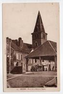 - CPA MENS (38) - Place De La Halle Et L'Eglise - Edition H. T. N° 35 - - Mens