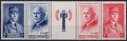 FRANCE 571A ** MNH Bande Maréchal PETAIN Avec Francisque 1943  (CV 18 €) - Unused Stamps