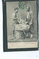 Europe-Turquie-CONSTANTINOPLE-Beau Plan Animé D'un MARCHAND De POTERIE En 1900 - Türkei