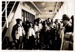"""1933 ARCTIC EXPEDITION Real Photo 10x15cm - NORWAY - SPITZBERGEN, Claude TARRÈRE Onboard """"COLOMBIE"""" - Norwegen"""