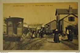 29 Finistere Pont Croix La Gare Train ( Top Carte Superbe Plan ) - Pont-Croix