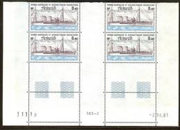 TAAF PA N°70** Bloc Coin Daté De 4 Valeurs (2/10/1981) - COTE 15.60 € - Luftpost