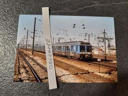 SNCF : Photo Originale L THOMAS : Automotrice Z 6433 à PONT CARDINET (75) En 1999 - Treinen
