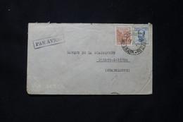 BRÉSIL - Enveloppe De L 'Attaché Commercial De L'Ambassade De France Pour La Guadeloupe Par Avion En 1942 - L 77792 - Briefe U. Dokumente