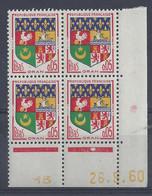 BLASON ORAN N° 1230A - Bloc De 4 COIN DATE - NEUF SANS CHARNIERE - 26/9/60 1 Point - 1960-1969