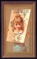 Cartão Publicidade ALIMENTO P/ Creanças Racahout. Old Victorian Trade Card CHROMO DOREE Remedy VTC Portugal 1880s - Andere