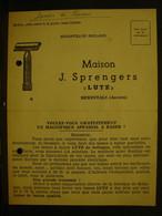 Pu. 203. Carte Publicitaire De Commande De Lame De Rasoir Maison J. Sprengers LUTZ - Razor Blades