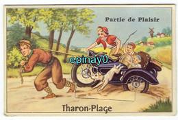 44 - THARON PLAGE - CARTE à SYSTEME Avec Tirette De Carte Postale - Side-car - Moto - Tharon-Plage