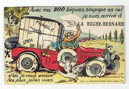 56 - LA ROCHE BERNARD - CARTE à SYSTEME Avec Tirette De Carte Postale - Auto - Voiture - La Roche-Bernard
