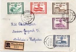 "AUTRICHE :  REC .  "" WIEN - RODAUN  "" . 1955 . - 1945-60 Cartas"