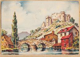 ILL384 BARRE & DAYEZ 2903-F -Château-Fort Pont 3 Arches Lavoir Maisons Bords Rivière BARDAY  Dépot 1945-4 - Barday