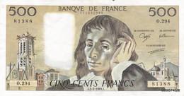 500 Francs  Pascal 1989 - O 294  Pas De Plis  Pas D'épinglage - 500 F 1968-1993 ''Pascal''