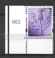 GB  - 2009  56p Thistle SCOTLAND  Stamp With DLR GRID Marking - Escocia