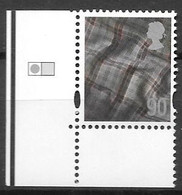 SCOTLAND TARTAN 2009  90p Stamp With CARTOR Grid Marking - Escocia