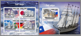 SIERRA LEONE 2020 MNH Tall Ships Segelschiffe Großsegler Grands Voiliers M/S+S/S - OFFICIAL ISSUE - DHQ2045 - Bateaux