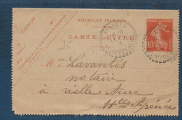 Hautes Pyrénées  - Cachet  Pointillé  LASLADES - 1877-1920: Periodo Semi Moderno