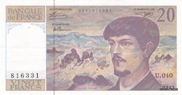 20 Francs  Debussy 1993 U 40 - 20 F 1980-1997 ''Debussy''