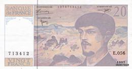 20 Francs  Debussy 1997 E 056  Spl - 20 F 1980-1997 ''Debussy''