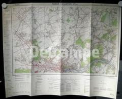 Carte Etat-Major Namur-Champion 47/3-4 édition 1968 éch 1:25.000 73cm/56cm - Topographical Maps