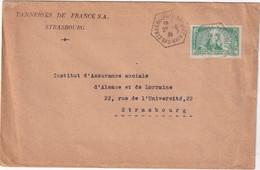 ALSACE-LORRAINE  1935 LETTRE DE STRASBOURG - Alsace Lorraine