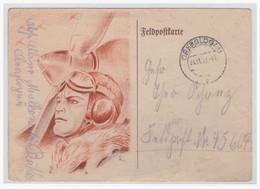 Dt.- Reich (004546) Feldpostkarte Mit Collorierten Bild, Gelaufen An FP NR 45604, Oberglogau Am 23.11.1942 - Briefe U. Dokumente