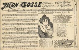MON GOSSE  Paroles De Jean DARIS  Musique De A GAUWIN  Recto Verso - Musica E Musicisti