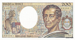 200 Francs   Montesquieu  1988  E 057   S P L - 200 F 1981-1994 ''Montesquieu''