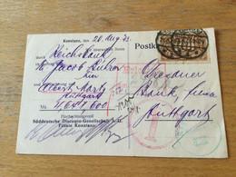 170 Deutsches Reich 1923 Firmenkarte Von Konstanz - Lettres & Documents