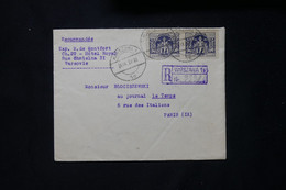 POLOGNE - Enveloppe En Recommandé De Warszawa Pour Paris En 1923 - L 77837 - Briefe U. Dokumente